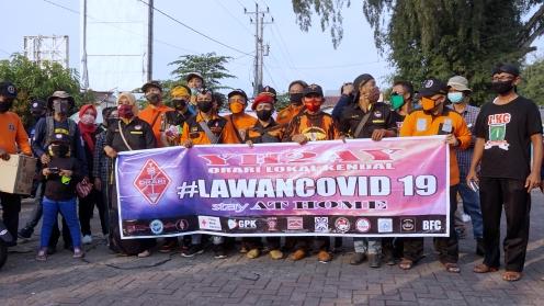 ORARI Lokal Kendal Bagi Masker Gratis lawan Covid-19