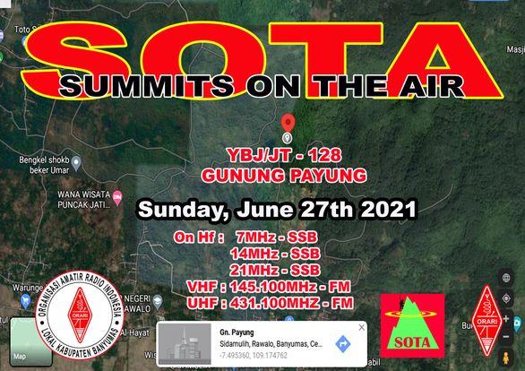 Jadwal SOTA Gunung Payung YBj/JT-128