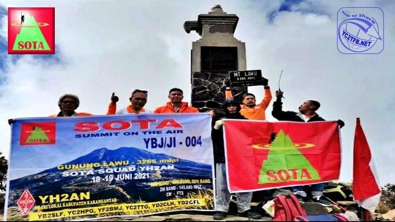 Aktivasi Gunung Lawu YBJ/JI-004 berhasil dilakukan melalui Frekuensi 145.680 MHz dan 7.125 MHz.
