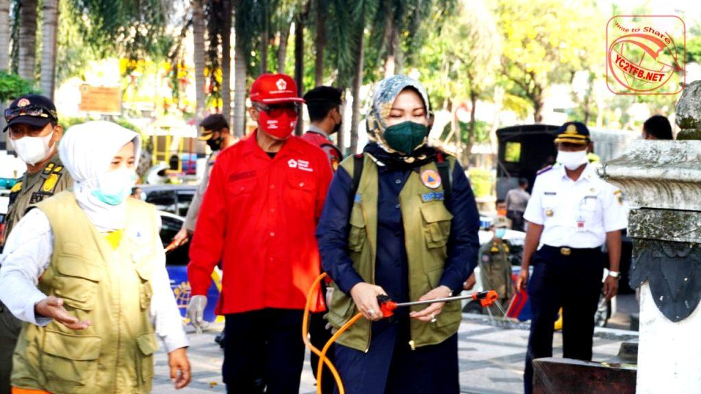 Bupati Klaten Hj. Sri Mulyani memimpin kegiatan SATGAS Penanganan Covid-19