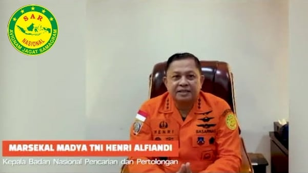 Marsekal Madya TNI Hendri Alfiandi kepala Basarnas